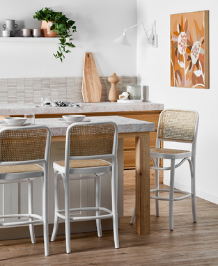 Modern Rattan Kitchen photo by Temple & Webster