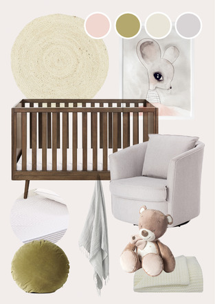 Soft slumber nursery photo by Temple & Webster
