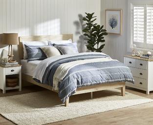 Coastal blues seaside bedroom photo by Temple & Webster
