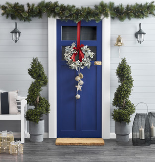 Festive front door photo by Temple & Webster