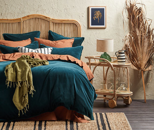 Lush Teal Inspired Bedroom photo by Temple & Webster
