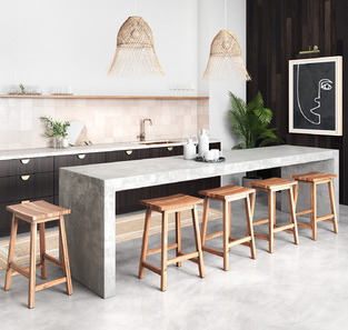 Wooden Industrial Dining photo by Temple & Webster