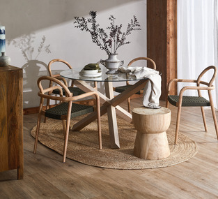Bright Timber Dining photo by Temple & Webster