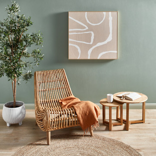 Jute & Rattan Living Room photo by Temple & Webster
