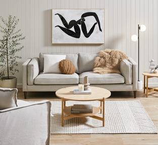 Beige Living Room photo by Temple & Webster